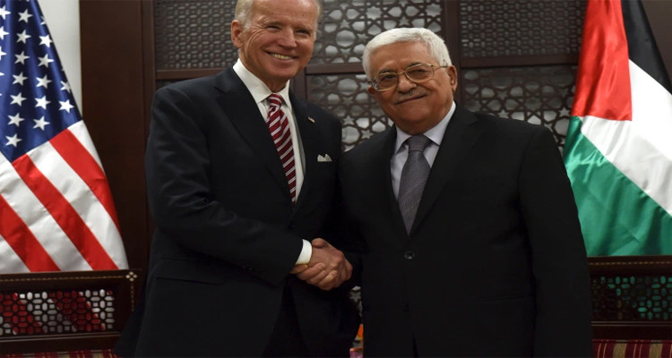 لقاء جو بايدن ومحمود عباس