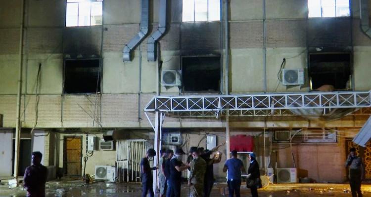 العراق حريق بمستشفى