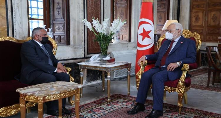 راشد الغنوشي وسفير سلطنة عمّان بتونس