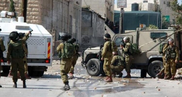 مسيرة بنابلس واصابة 10 فلسطينيين