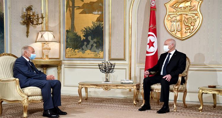 رئيس الجمهورية يستقبل أحمد ابو الغيط