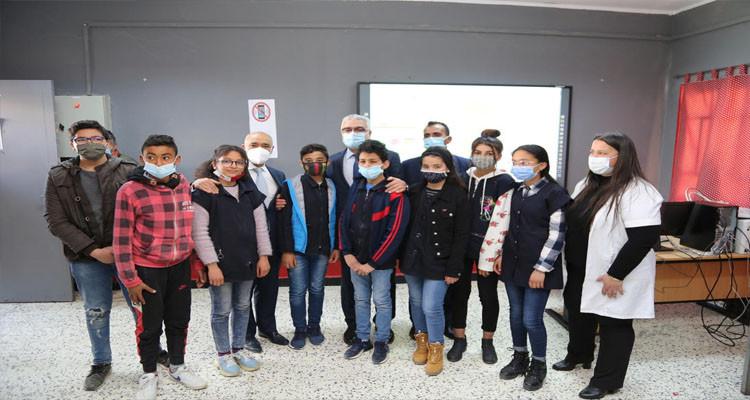 L'ATB  fête à Zaghouanl'inauguration de son 8ème laboratoire informatique