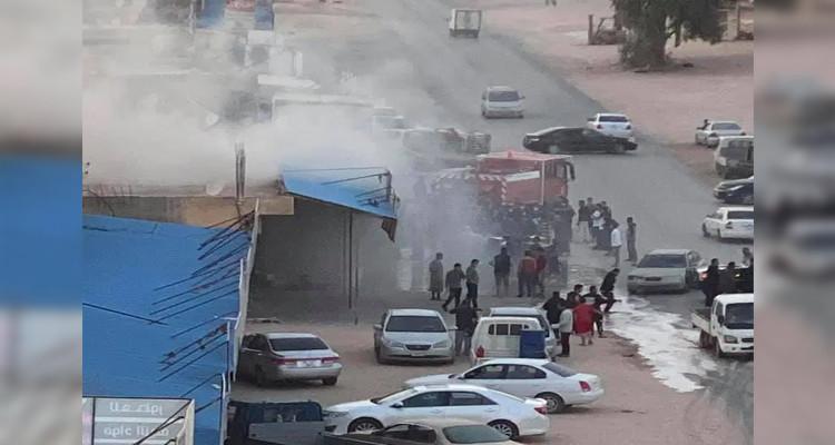 حريق طرابلس سوق