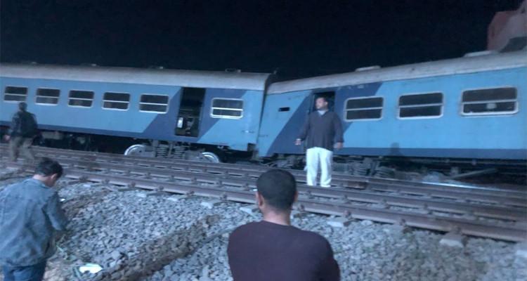 منيا القمح خروج قطار عن السكة مصر