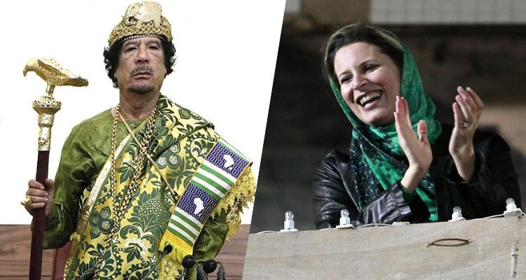 عائشة القذافي معمر القذافي