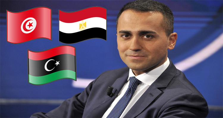 وزير الخارجية الإيطالي دي مايو تونس ليبيا مصر