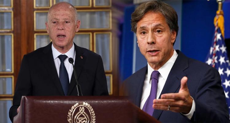 وزير الخارجية الأمريكي: أجريت محادثة ممتازة مع الرئيس قيس سعيّد