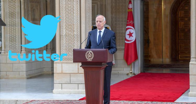 اسم الرئيس قيس سعيّد يكتسح موقع ''تويتر''