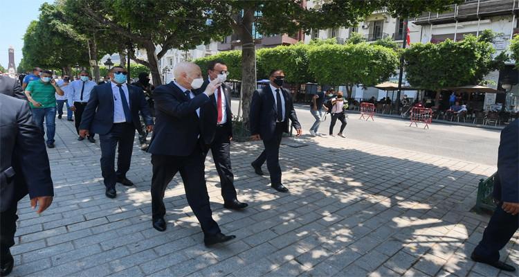 رئيس الدولة يتحوّل إلى شارع بورقيبة ومركز التلقيح بالمنزه
