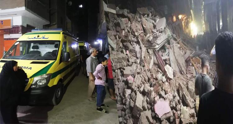 مصر: انهيار مبنى من أربعة طوابق وانتشال جثتين من تحت الركام