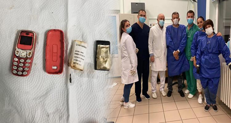 استخراج هاتف جوال من معدة أحد السجناء بعد ابتلاعه بأربعة أيام