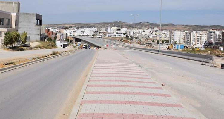 تحويل جزئي لحركة المرور على الطريق الرابطة بين حي النصر والمنيهلة