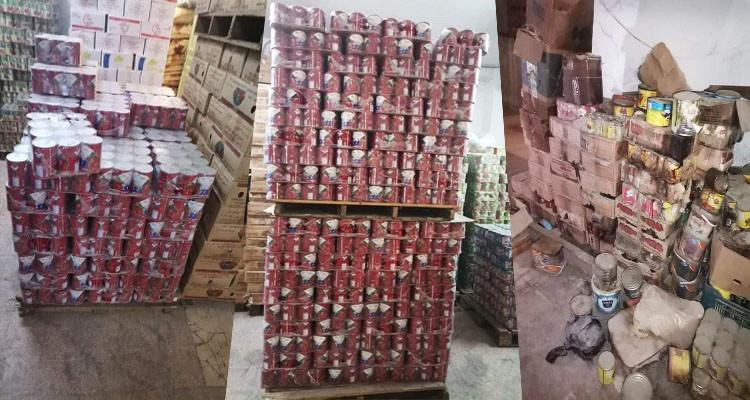 المنيهلة: حجز 36 ألف علبة مصبرات ومئات اللترات من الزيوت فاسدة