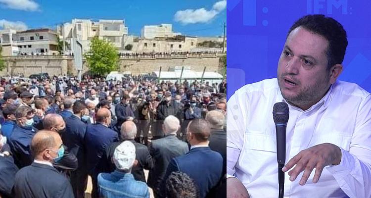 طارق الكحلاوي  جنازة نائب حركة النهضة مختار اللموشي
