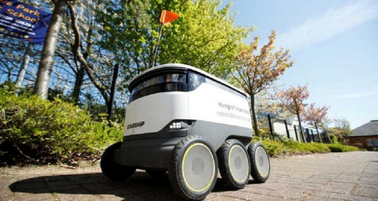 روبوتات تتسوق لسكان مدينة ميلتون كينز الإنجليزية في ظل العزل العام