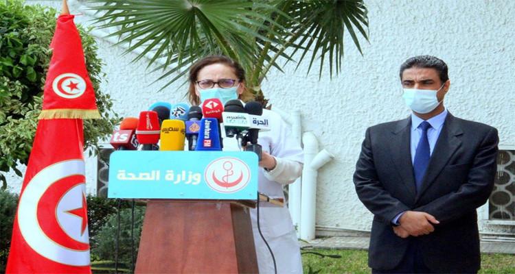 نصاف بن علية تطلب من الصحفيين الغير مرتدين للكمامات مغادرة الندوة الصحفية
