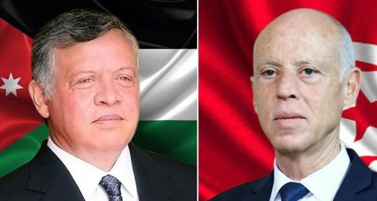 قيس سعيد والعاهل الأردني يتبادلان تهاني العيد