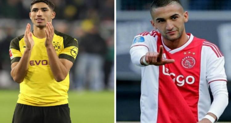صفقة المغربيين حكيمي و زياش في قائمة أغلى اللاعبين الأفارقة في أوروبا