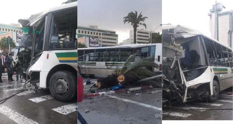 وزارة الصحة : 47 مصابا في حادث اصطدام حافلتين بشارع محمد الخامس
