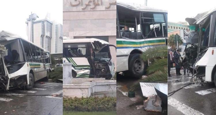 42 اصابة في حادث اصطدام خطير بين حافلتين بشارع محمد الخامس (صور+ فيديو)