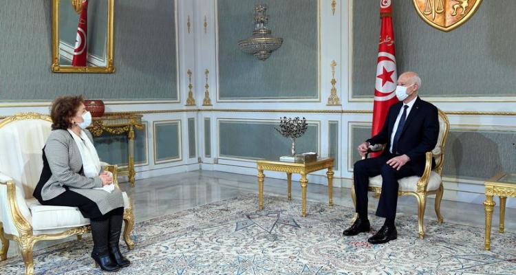 مسار العدالة الانتقالية في تونس محور لقاء قيس سعيد بسهام بن سدرين