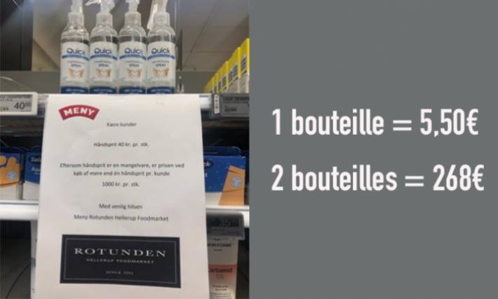 Sur-achat du gel désinfectant, les Danois ont trouvé la solution