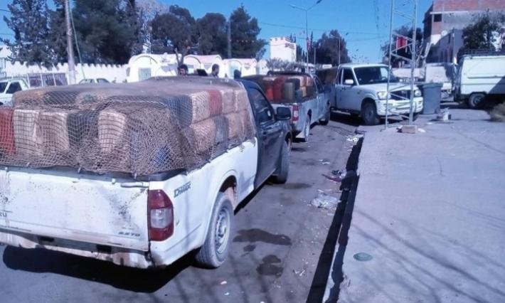 سيدي بوزيد: اصطدام بين شاحنة تهريب وأخرى تقلّ عددا من العاملات الفلاحيات