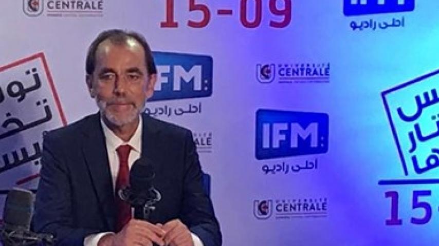 Le candidat du parti Bani Watani Said al-Aydi en réponse à la question d'Omar al-Oudi